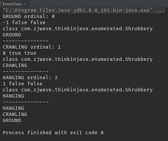 Thinking in Java——枚举